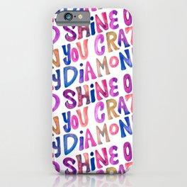 Shine On Your Crazy Diamond – Vintage Palette iPhone Case