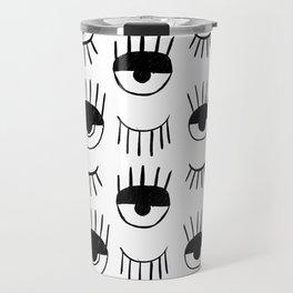 Eyes Drawing Travel Mug