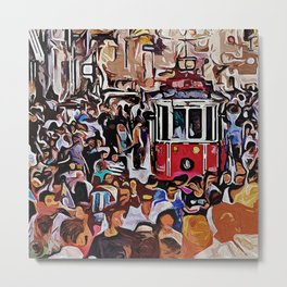 A Day in Istanbul Metal Print