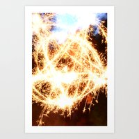 pentagram Art Prints featuring Pentagram by angesmithphotography