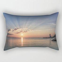 Sunbeams at Annisquam lighthouse #2 Rectangular Pillow
