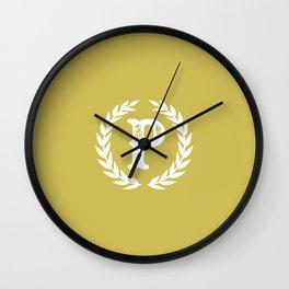 Mustard Yellow Monogram: Letter P Wall Clock