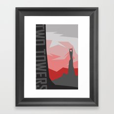 Minimalist - The Two Towers Framed Art Print