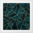 Deep Teal Stone by elisabethfredriksson