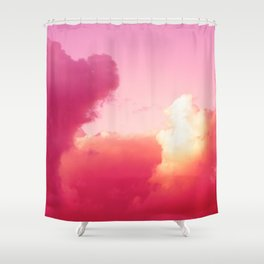 The battle of the light and shadow Shower Curtain