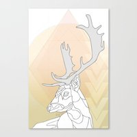 antlers Canvas Prints featuring Antlers by Heidi Banford