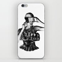 steve mcqueen iPhone & iPod Skins featuring McQueen by BrittanyJanet Illustration & Photography