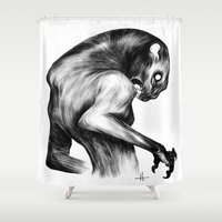 fierce Shower Curtains featuring Stay Fierce by Natalie Hall