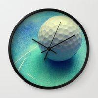 golf Wall Clocks featuring GOLF by Yilan