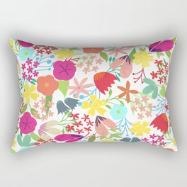 Wildflower Pattern Rectangular Pillow