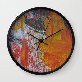 Abstract Paint Swipes Wall Clock