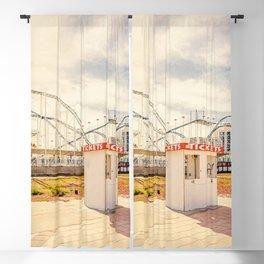 Abandoned Roller Coaster Daytona Florida Blackout Curtain