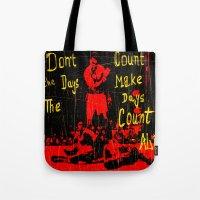 ali Tote Bags featuring Ali by Maxim Garg