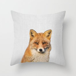 Fox - Colorful Throw Pillow
