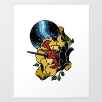 bebop Art Prints featuring Cowboy Bebop Swordfish II by Carrie South