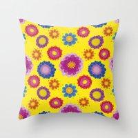 ukraine Throw Pillows featuring Sunny Ukraine by rusanovska