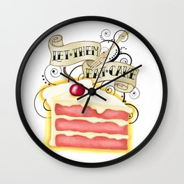 Let Them Eat Cake Vintage Tattoo Style Wall Clock