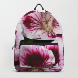 Purple Geraniums Flowers Backpack