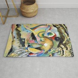 Wassily Kandinsky Painting on Light Ground Rug