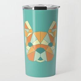 Geo Frenchie - Teal & Orange Travel Mug