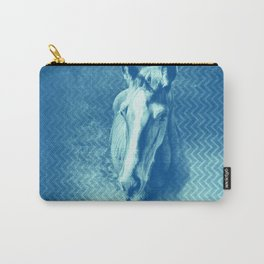 Horse emerging from the blue mist Carry-All Pouch