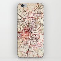 nashville iPhone & iPod Skins featuring Nashville by MapMapMaps.Watercolors