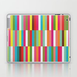Bright Colorful Stripes Pattern - Pink, Green, Summer Spring Abstract Design by Laptop & iPad Skin