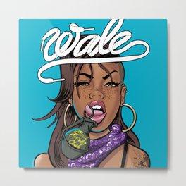WALE x J.COLE -Art Trill Metal Print