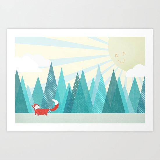 Winter's Over Art Print