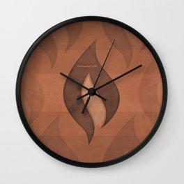"Ray Bradbury ""Fahrenheit 451"" - Minimalist illustration literary design, bookish gift Wall Clock"