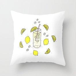 Lemon Lemon Lemon Throw Pillow