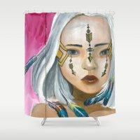 indigo Shower Curtains featuring Indigo by Nataliette