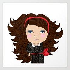 Mss Freckles Art Print