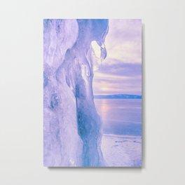 Ice cliff of Lake Baikal Metal Print