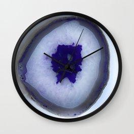 Deep Purple Agate Slice Wall Clock