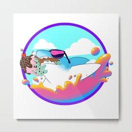 Shark Ice Cream Metal Print