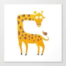 giraffe cartoon Canvas Print