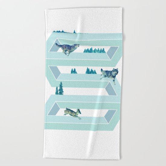 The impossible Pursuit Beach Towel