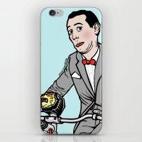 pee wee iPhone & iPod Skins featuring Pee Wee Herman by Michael Scarano