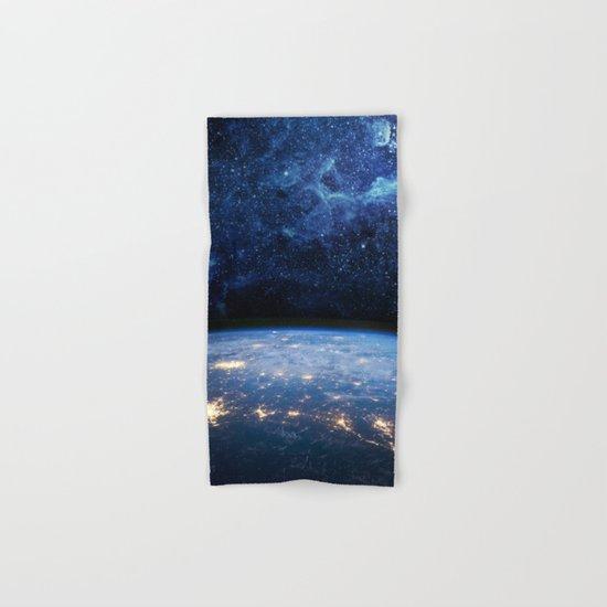 Earth and Galaxy Hand & Bath Towel