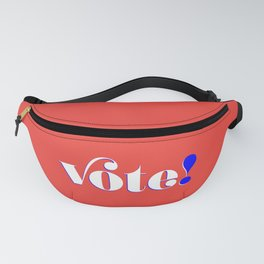 Vote! in red Fanny Pack
