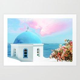 Greek Enlightenment #digitalart #travel Art Print