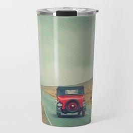 Vintage red car, Ireland Travel Mug