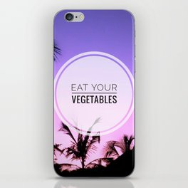 Motus Operandi Collection: Eat your vegetables iPhone Skin