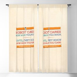 How Much You Care Blackout Curtain