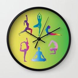 Yoga Wall Clock