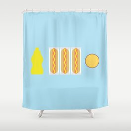 Mustard Meal Shower Curtain
