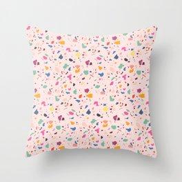 Happy Terrazo Throw Pillow