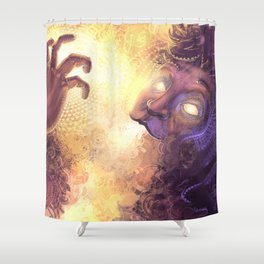 Being consumed by color Shower Curtain