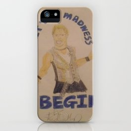 Chris Jericho-Let the Madness Begin. iPhone Case